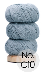 Geilsk Bomuld og Uld: C10 Wolke Blau