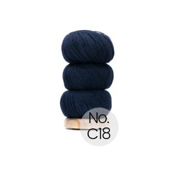 Geilsk Bomuld og Uld: C18 Marine Blau