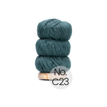 Geilsk Bomuld og Uld: C23 Hell-Flaschengrün