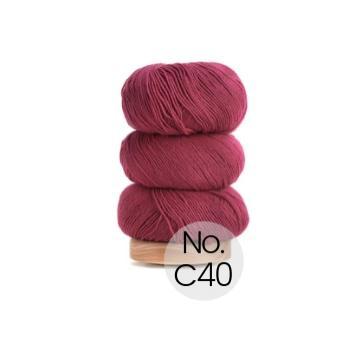 Geilsk Bomuld og Uld: C40 Rhabarber