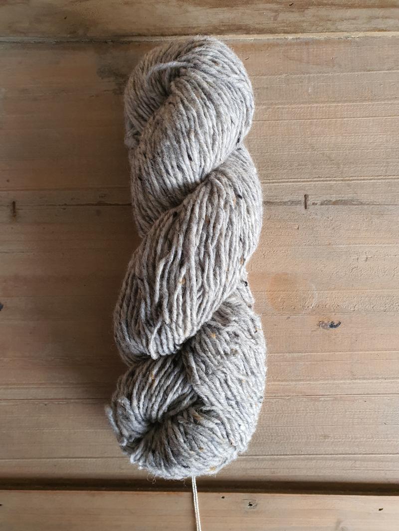 Isager Aran Tweed: Grey