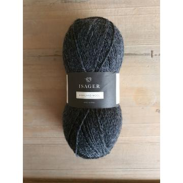Isager Highland Wool: Charcoal