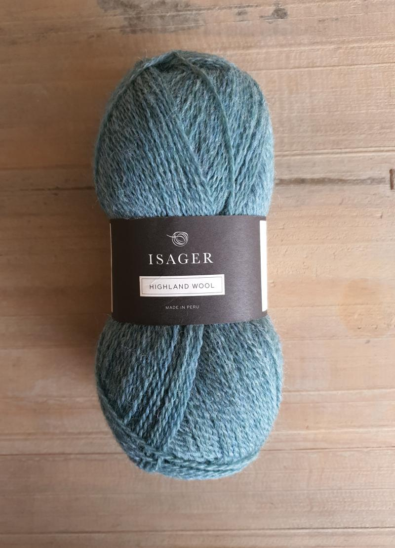 Isager Highland Wool: Turquise